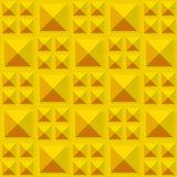 Tegelstextuur van gouden metaalblokken Naadloos patroon royalty-vrije illustratie