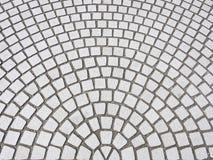 Tegelsvloer met de radiale abstracte achtergrond van de patroonkunst Stock Foto