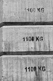 Tegen gewicht Stock Foto