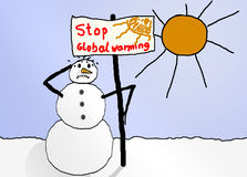 Tegen het globale verwarmen Stock Foto
