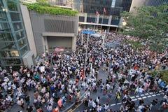 Tegen Nationaal Onderwijs in Hong Kong Stock Foto's