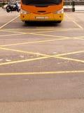 Tegengehouden bus Stock Foto