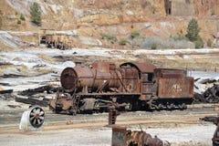 Tegengehouden trein royalty-vrije stock foto's