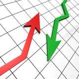 Tegengestelde pijlen Stock Fotografie