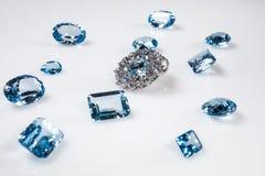Tegenhanger met diamanten royalty-vrije stock foto's