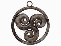 Tegenhanger van het Keltische Symbool van Triskelion royalty-vrije illustratie