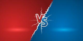 Tegenover brieven Rode brieven V en blauwe s-symbolen VERSUS abstracte achtergrond Vector illustratie royalty-vrije illustratie