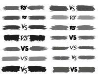 Tegenover het ontwerp van de van de achtergrond brievenstrijd strippaginastijl Vector illustratie Stock Afbeelding