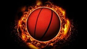 Tegenover strijdachtergrond Versus slagstrijd Basketbal De animatie van de het conceptenlijn van de sportslag royalty-vrije illustratie