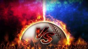 Tegenover strijdachtergrond Versus slagstrijd honkbal De animatie van de het conceptenlijn van de sportslag stock illustratie