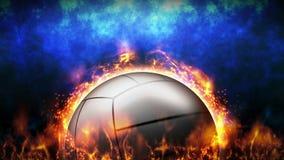 Tegenover strijdachtergrond Versus slagstrijd Volleyball De animatie van de het conceptenlijn van de sportslag vector illustratie