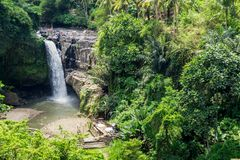 Tegenungan Waterfall Bali, Indonesia. Famous tourist spot Royalty Free Stock Photography