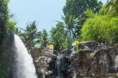 Tegenungan Waterfall Bali, Indonesia. Famous tourist spot Stock Image