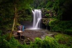 Tegenungan waterfall in bali Royalty Free Stock Photo