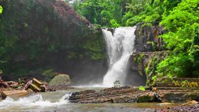 Tegenungan Waterfall. Located in plateau area and it is one of places of interest of Bali stock footage