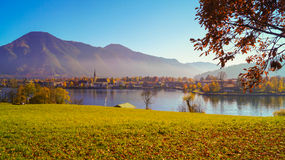 Tegernsee湖,从小山的看法 库存图片