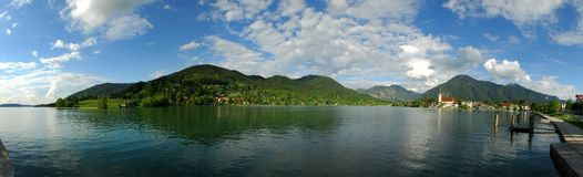Tegernsee, Alps, Bavaria. Panorama of the Tegernsee in the Bavarian Alps, Germany Stock Images