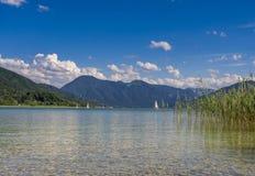 Tegernsee jezioro, Bavaria Zdjęcia Royalty Free