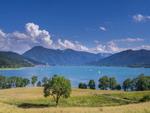 Tegernsee jezioro, Bavaria Zdjęcie Royalty Free