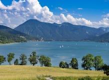 Tegernsee jezioro, Bavaria Obrazy Royalty Free