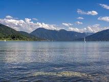 Tegernsee jezioro, Bavaria Fotografia Stock