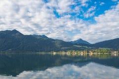 Tegernsee jezioro i Alp góry Zdjęcie Royalty Free