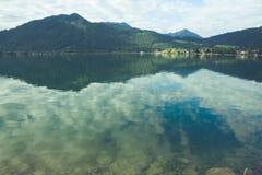 Tegernsee jezioro i Alp góry Fotografia Stock