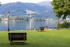 Tegernsee jezioro i Alp góry Fotografia Royalty Free