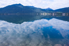 Tegernsee lake and Alp mountains Royalty Free Stock Photos