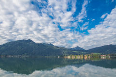 Tegernsee lake and Alp mountains Royalty Free Stock Photography