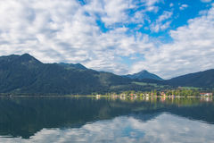 Tegernsee lake and Alp mountains Royalty Free Stock Photo