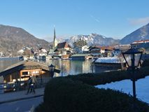 Tegernsee in winter royalty free stock images