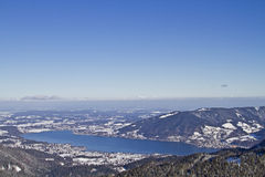 Tegernsee - lake in wintertime Royalty Free Stock Image
