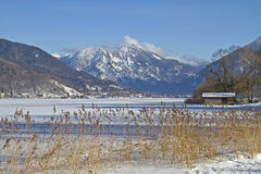 Tegernsee - lake in wintertime Stock Image