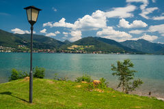 Tegernsee near the City Bad Wiessee - Germany Royalty Free Stock Photo