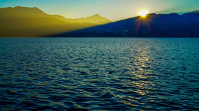 Tegernsee sunset Stock Photos