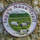 Teggs Nose Trail sign at Teggs Nose Country Park on the edge of. The Peak District, UK Stock Photography