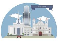 Tegucigalpa, Honduras royalty ilustracja