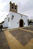 teguise πύργων κουδουνιών εκκλησία arrecife Στοκ φωτογραφίες με δικαίωμα ελεύθερης χρήσης