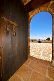 Teguise arrecife castillo de las coloradas Ισπανία ο παλαιός    τ Στοκ φωτογραφία με δικαίωμα ελεύθερης χρήσης