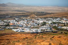 Teguise city on Lanzarote island Stock Photography