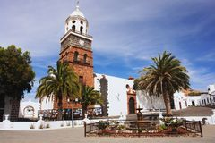 Teguise, Lanzarote. View of the church in the Teguise, Lanzarote Royalty Free Stock Photo
