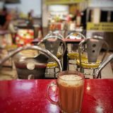 Teh tarik, Malaysian pulled tea. Royalty Free Stock Photography