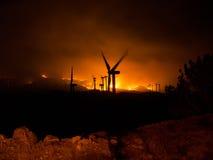 Tehachapi bränder Arkivfoton
