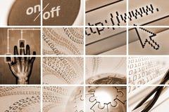 Tehcnology und Kommunikationsaufbau Lizenzfreies Stockbild