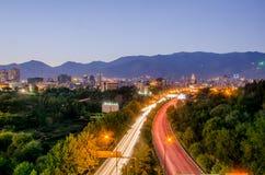 Teheran cityscape royaltyfri foto