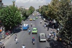 Teheran gator Arkivbild