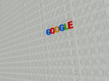 Teheran Iran-April 21 2016 - färgrika 3d Google smsar inom Searc Royaltyfri Bild