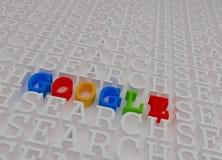 Teheran 21 Iran-April 2016 - Kleurrijke 3d Google-Tekst binnen Searc stock illustratie