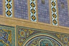 TEHERAN IRAN - OKTOBER 05, 2016: Yttersidor av den Golestan slotten Fotografering för Bildbyråer